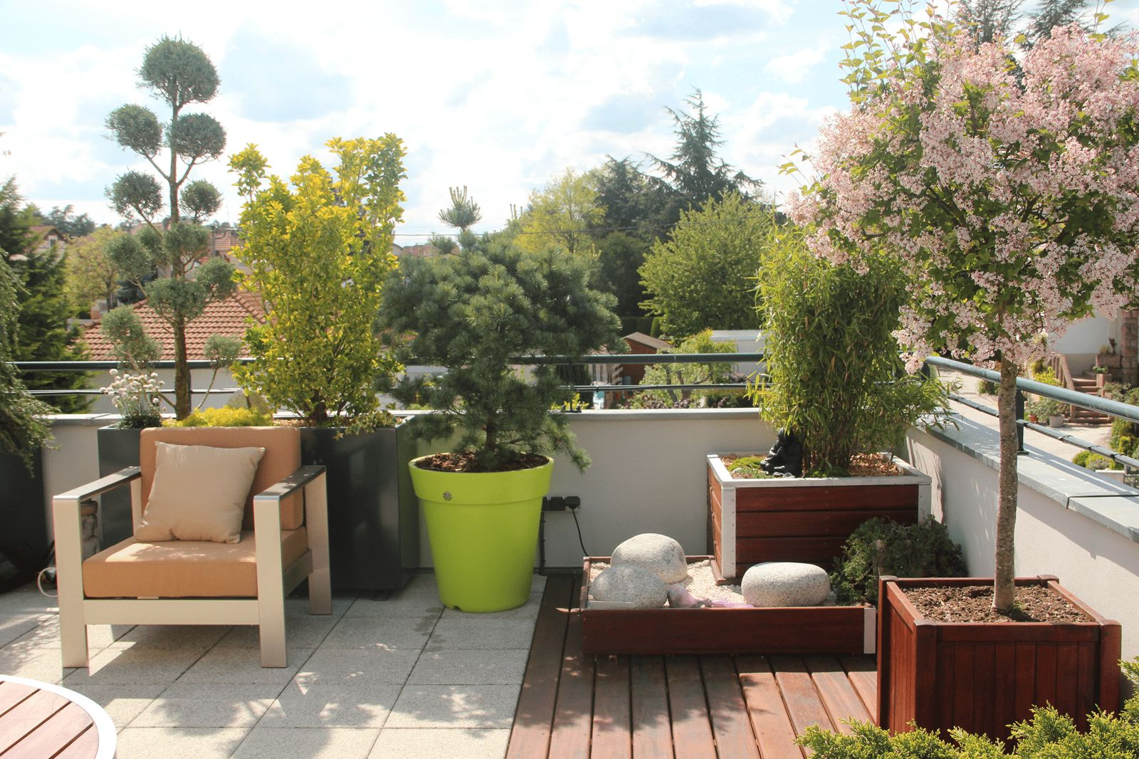 Idee deco amenager terrasse 1000 id es sur la for Amenagement jardin avec terrasse